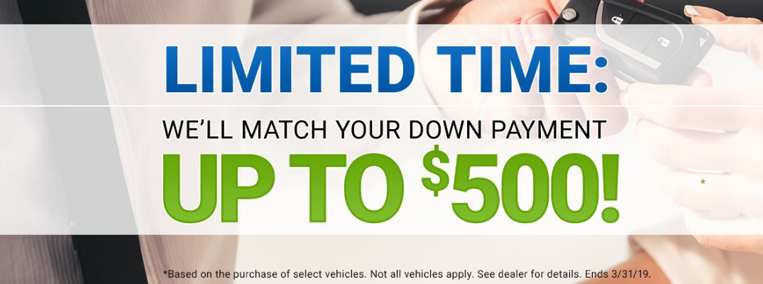 Have Your Down Payment Matched at Broadway Credit!