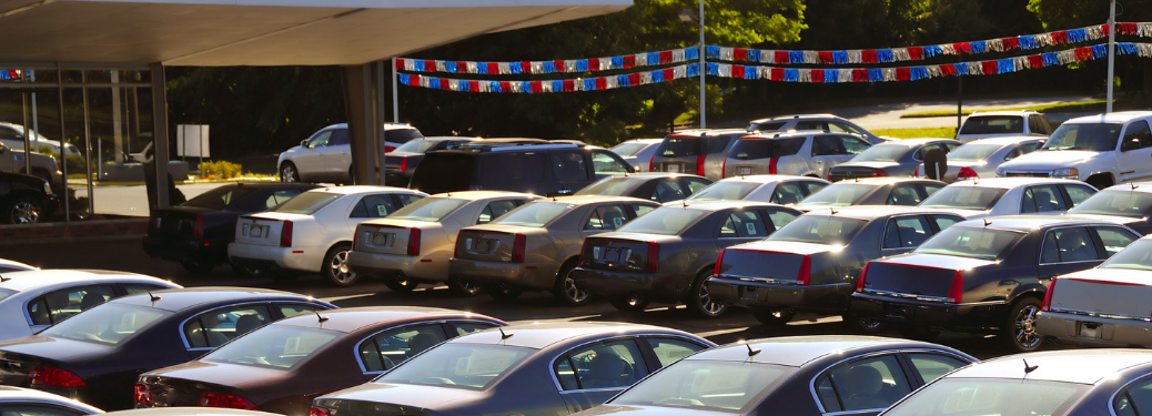 used car lot at dealership