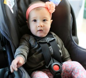 Baby Strapped into Car