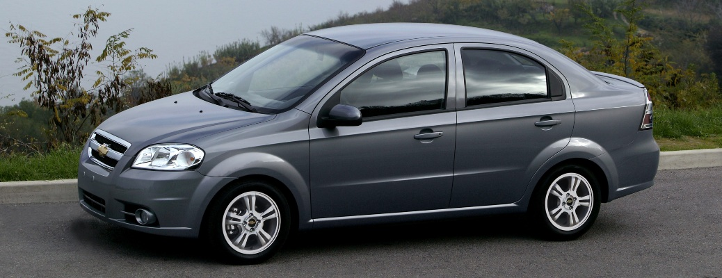 2011 Chevy Aveo gray side view