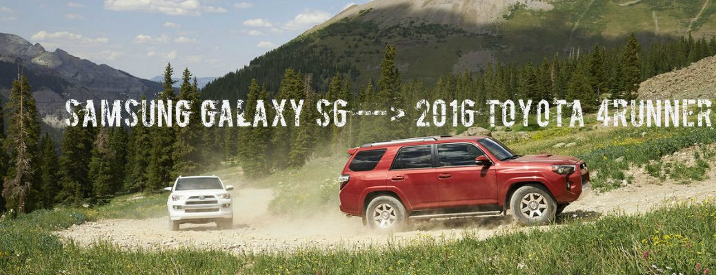 how to pair Samsung Galaxy S6 to 2016 Toyota 4Runner Bluetooth
