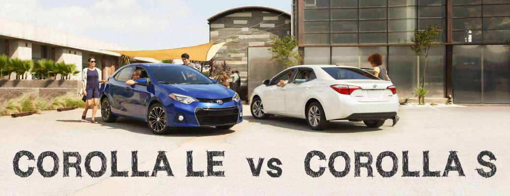 differences between 2016 Toyota Corolla LE and S trims
