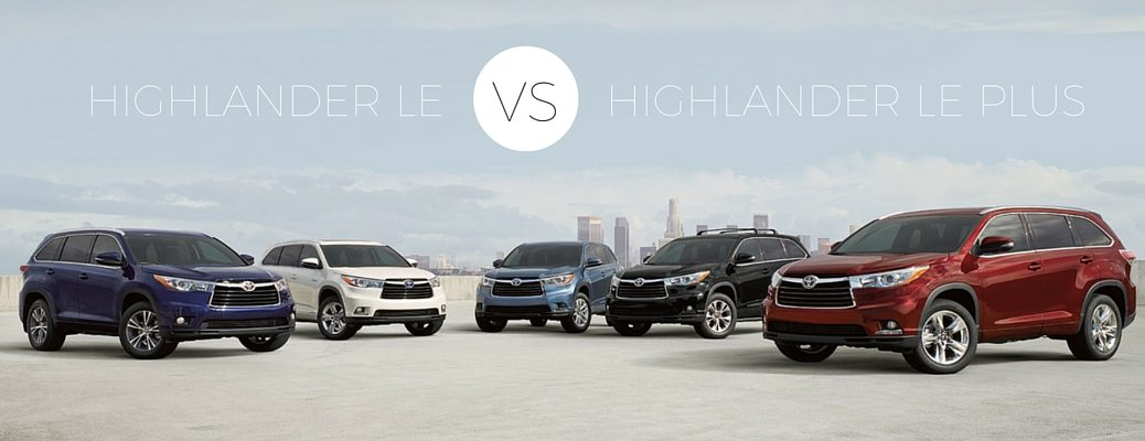 2016 Toyota Highlander LE vs LE Plus