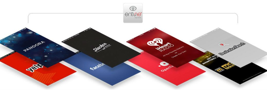 Diagram of Apps available with Toyota Entune App Suite
