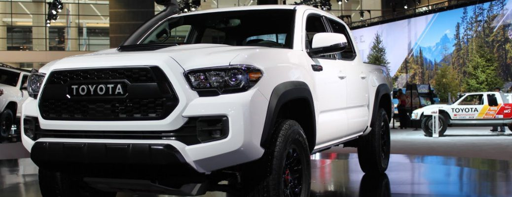 Exterior view of 2019 Toyota Tacoma TRD Pro model at 2018 Chicago Auto Show