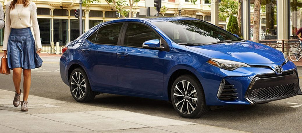 Blue 2019 Toyota Corolla Parked on the side of the road