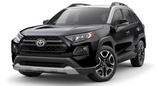 2019 Toyota RAV4 in Midnight Black Metallic with Ice Edge roof