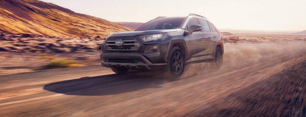 2020 Toyota RAV4 hitting the dirt road