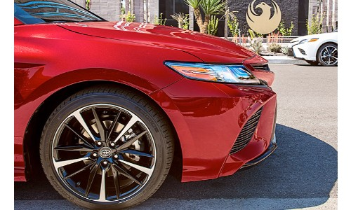 2019 Toyota Camry grille and tire side shot
