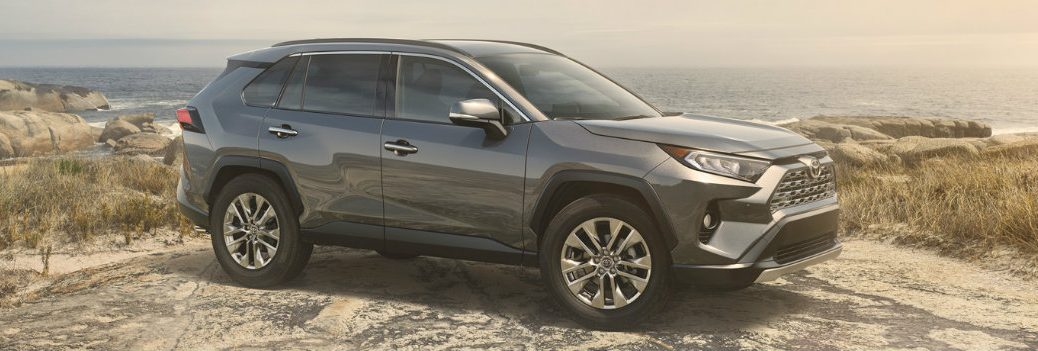 2019 Toyota RAV4 on a rocky cliff