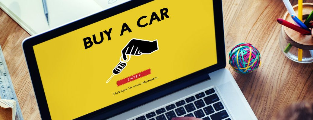Yellow screen saying buy a car