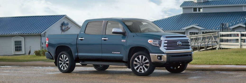 2019 Toyota Tundra by a barn
