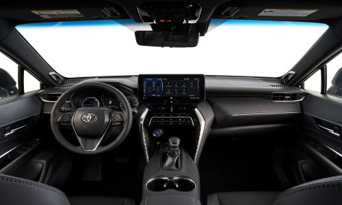 2021 Toyota Venza interior view of the front seats