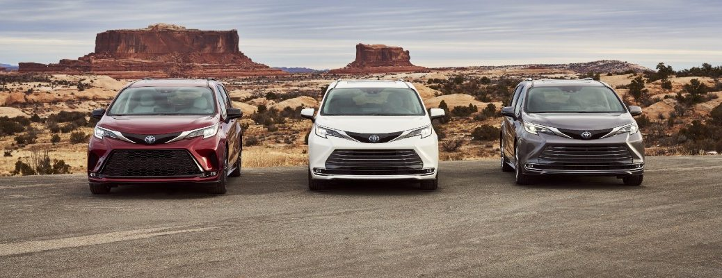 Three trim levels of the 2021 Toyota Sienna