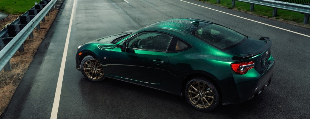 2020 Toyota 86 in a Harkone green color