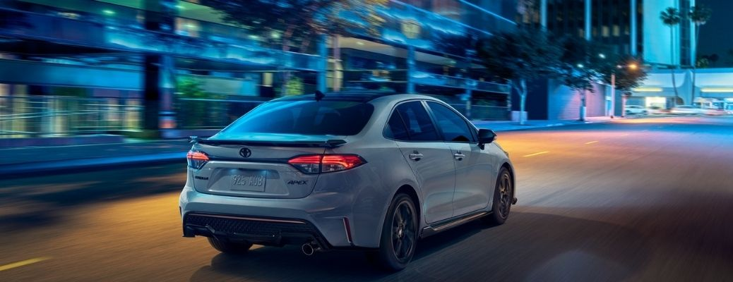 2021 Toyota Corolla parked rear view
