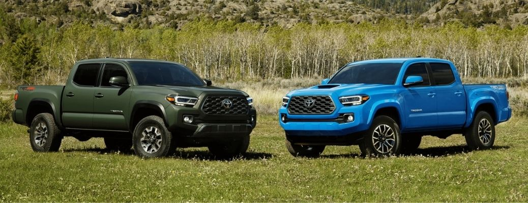 Two 2021 Toyota Tacomas parked side by side
