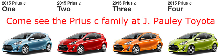 Prius Vs Prius C >> Differences For The Prius C Trims Explained J Pauley Toyota