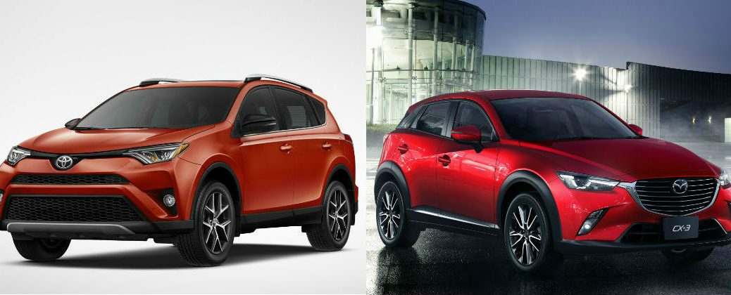 Compare the 2016 Toyota RAV4 and 2016 Mazda CX-3 at J. Pauley Toyota-Fort Smith AR-New Toyota Dealer-Toyota Model Comparisons-New Toyota Compact Crossover