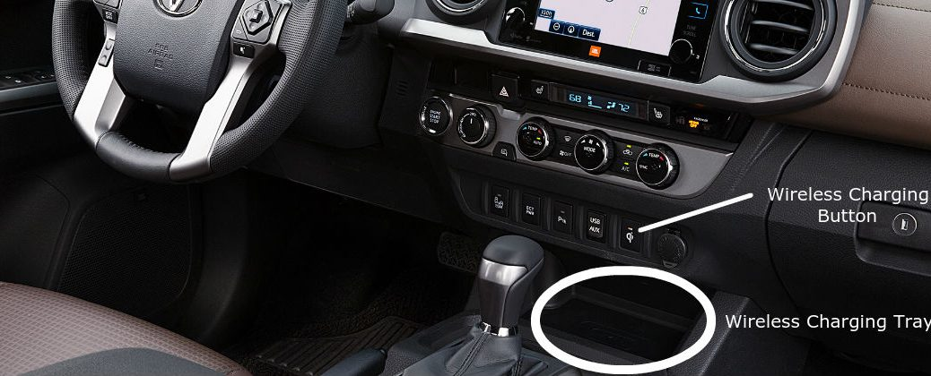 How to Use the 2016 Toyota Tacoma Qi Wireless Charging Feature at J. Pauley Toyota-Fort Smith AR-New Toyota Dealer-Toyota Technology-Qi Wireless Charging
