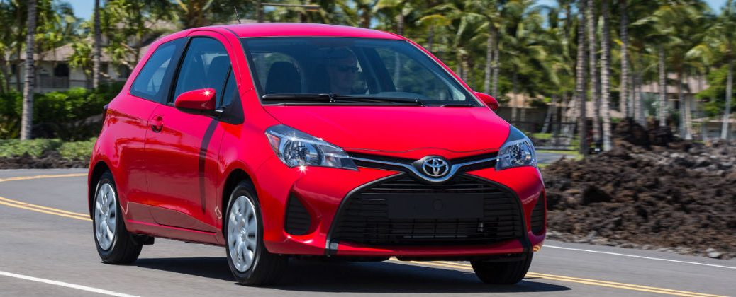 Differences Between the 2016 Toyota Yaris and 2015 Toyota Yaris at J. Pauley Toyota-Fort Smith AR-Red 2016 Toyota Yaris 3-Door Exterior