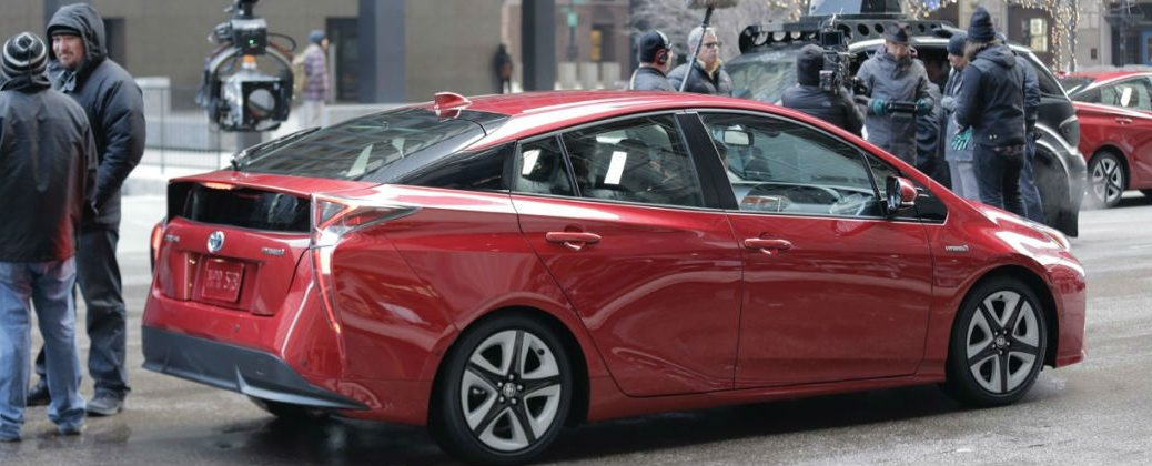 2016 Toyota Prius Super Bowl Commercial at J. Pauley Toyota-Fort Smith AR-Toyota Prius During Filming for Super Bowl Ad
