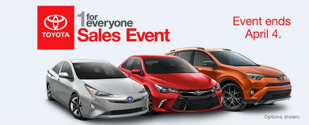 2016 Toyota 1 for Everyone Sales Event Fort Smith AR at J. Pauley Toyota-Toyota 1 for Everyone Sales Event Banner