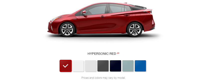 What Are The Color Options For 2016 Toyota Prius At J Pauley
