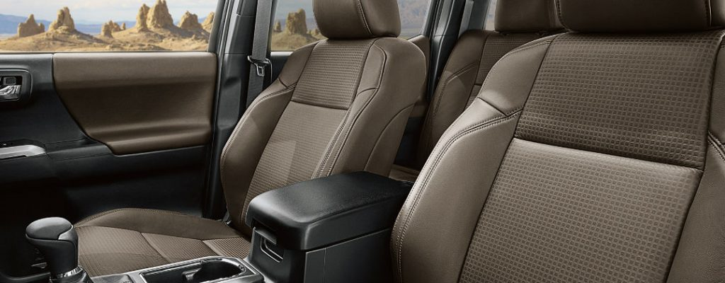 How to Clean Cloth and Leather Seats in Your Toyota at J. Pauley Toyota-Fort Smith AR-2016 Toyota Tacoma Limited Double Cab Hickory Leather Seats