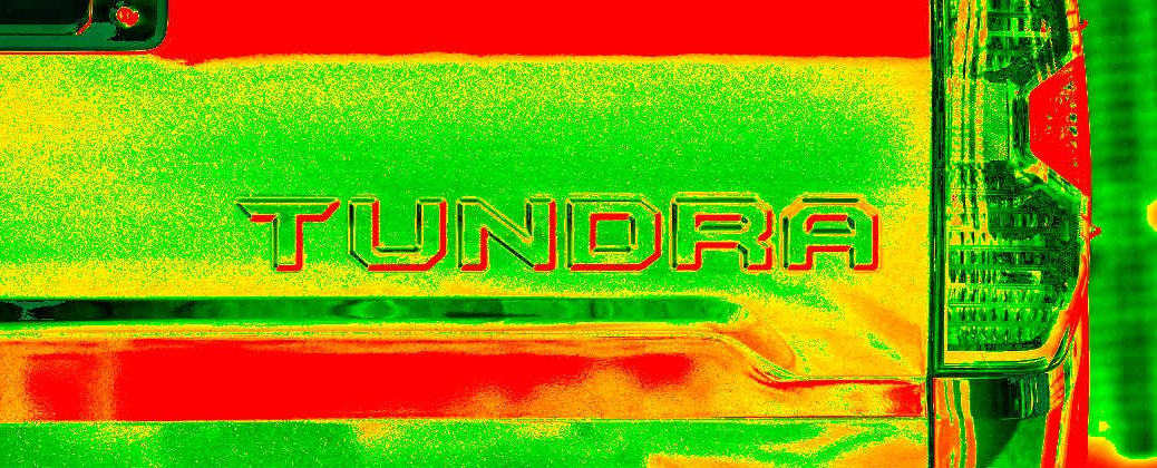 2016 Toyota Tundra Rear Tailgate Logo with Heat Map Colors