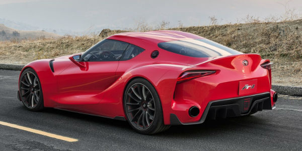 Red Toyota Ft 1 Concept Rear Exterior