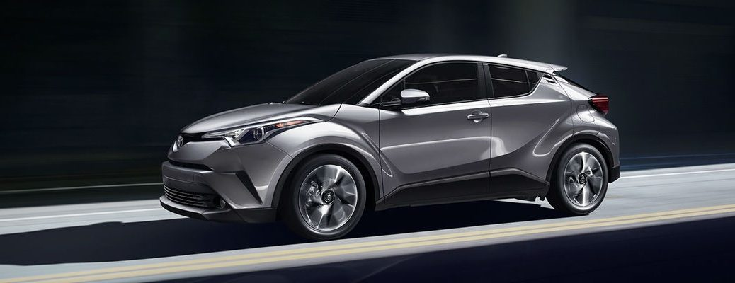 Silver Knockout Metallic 2018 Toyota C-HR on the road in Shadows