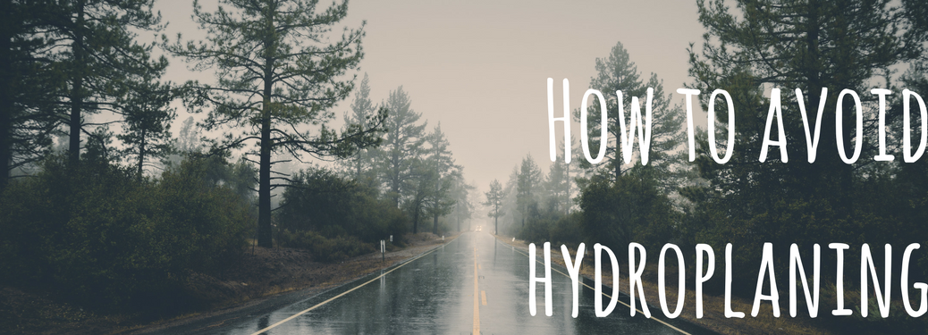 How to avoid hydroplaning on wet road background