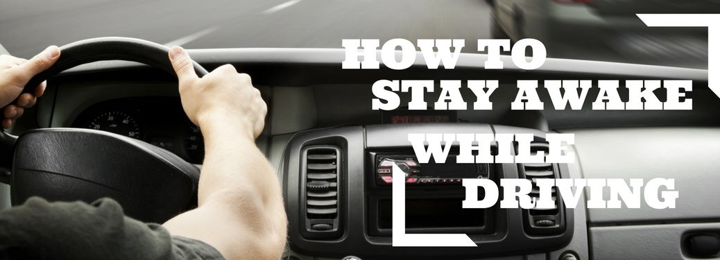 How to stay awake while driving on steering wheel background