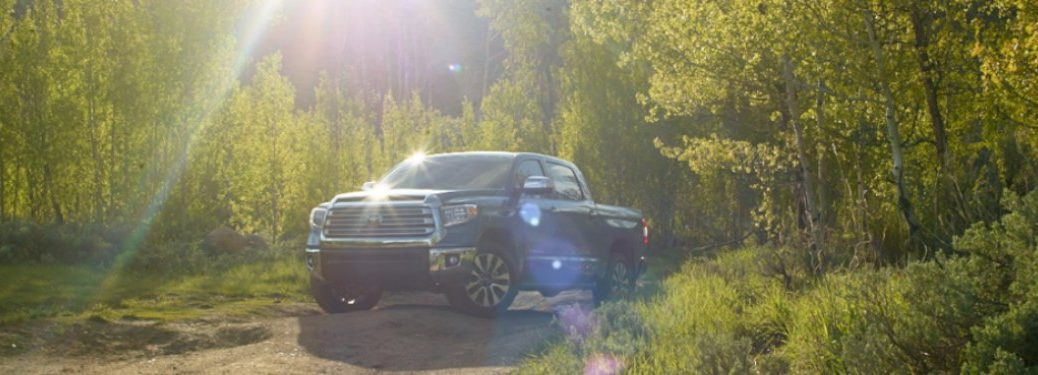 2020 Toyota Tundra parked in the woods