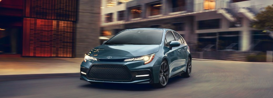 2020 Toyota Corolla driving down a city street
