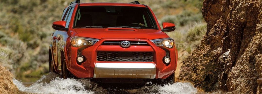 2020 Toyota 4Runner driving through a pond