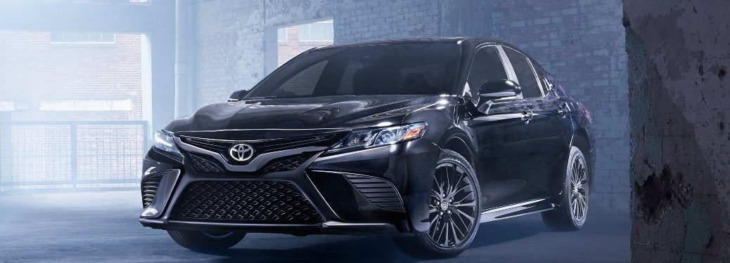 2020 Toyota Camry parked in a warehouse