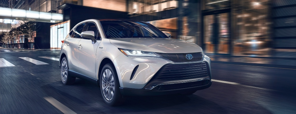 2021 Toyota Venza white front side view