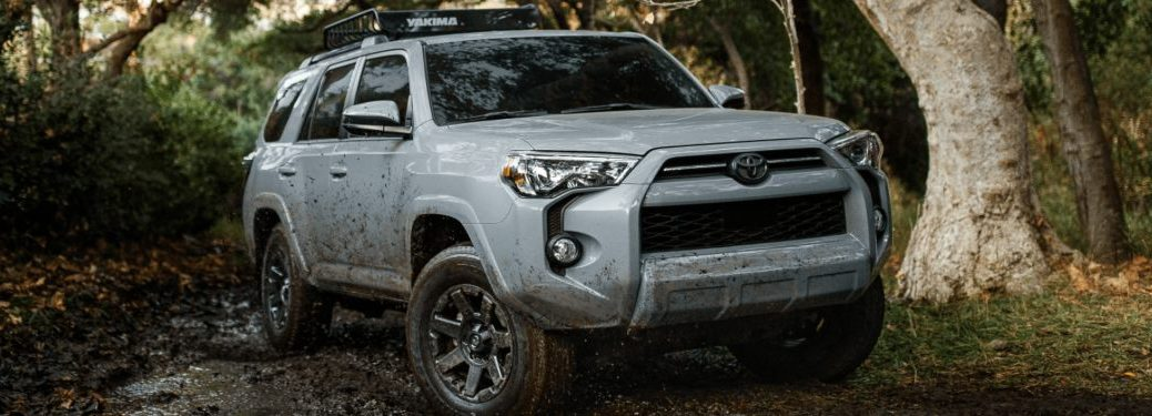 2021 Toyota 4Runner on a forest trail