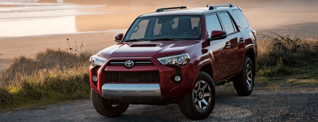 2021 Toyota 4Runner (Red) on a road. What are the engine specifications of the 2021 Toyota 4Runner