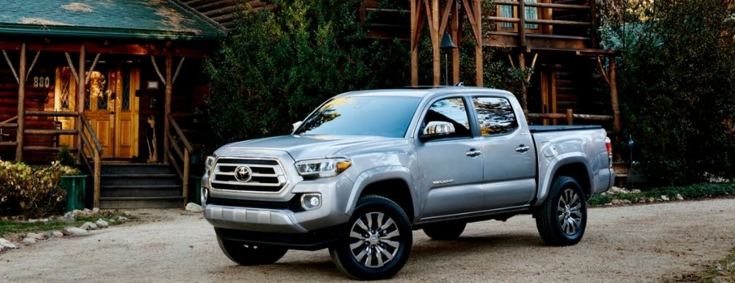 2021 Toyota Tacoma (Silver) on a pavement. What are the other color options?