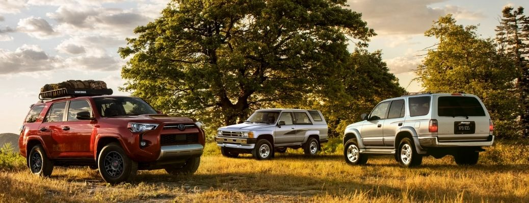 Three 2022 Toyota 4Runners in a field. What are the safety features?