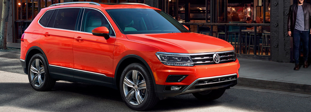 exterior front of the 2019 vw tiguan