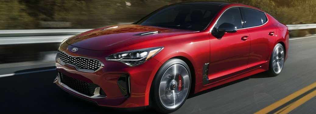 2018 Kia Stinger driving on road