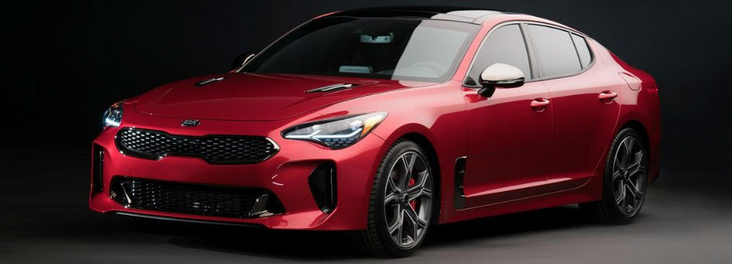 2018 Kia Stinger parked showing front and side profile