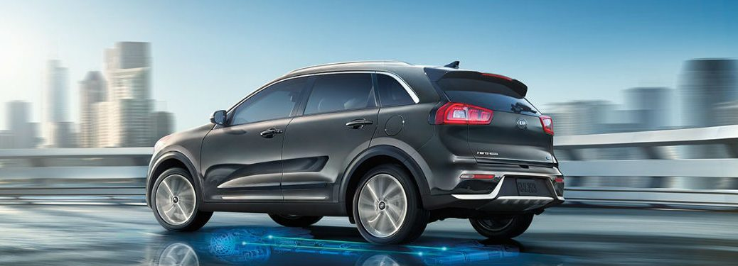 2018 Kia Niro driving on a road