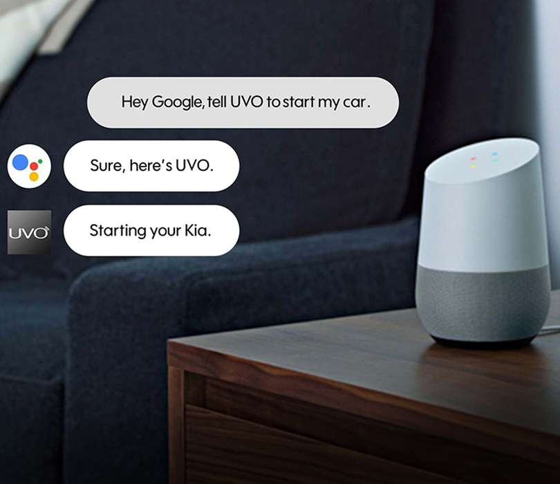 Google Assistant working with Kia UVo