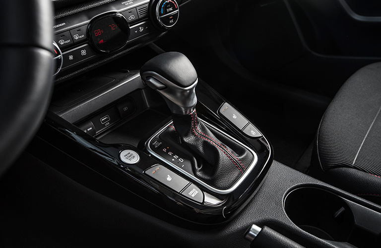 Isolated view of 2020 Kia Soul gear shifter