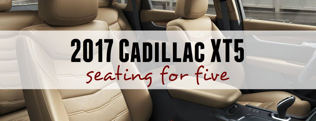 2017 Cadillac XT5 seating